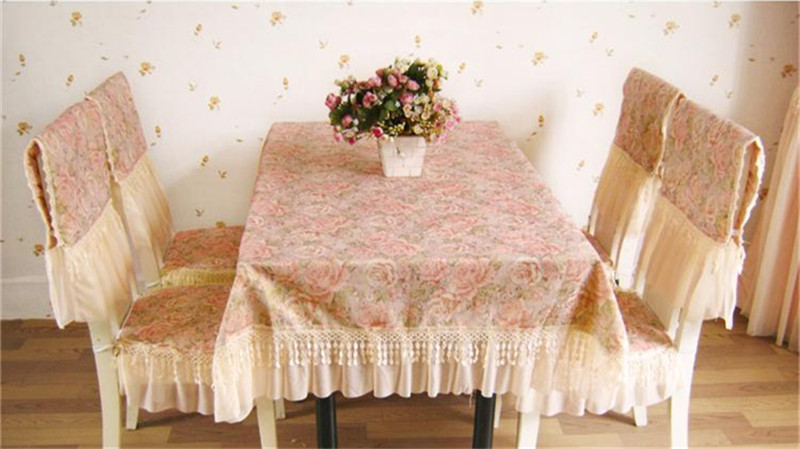Por Luxury Chair Covers Lots Xt Embroidered Tablecloth Table Dining Woven Jacquard Room