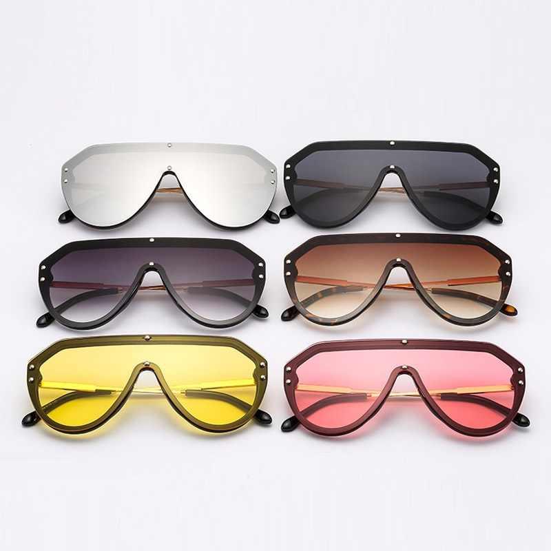 2376e5ce6e4a ... Rivet Fashion Pilot Sunglasses Women 2019 New Famous Brand Luxury  Designer Mirrored Sun Glasses Men Metal