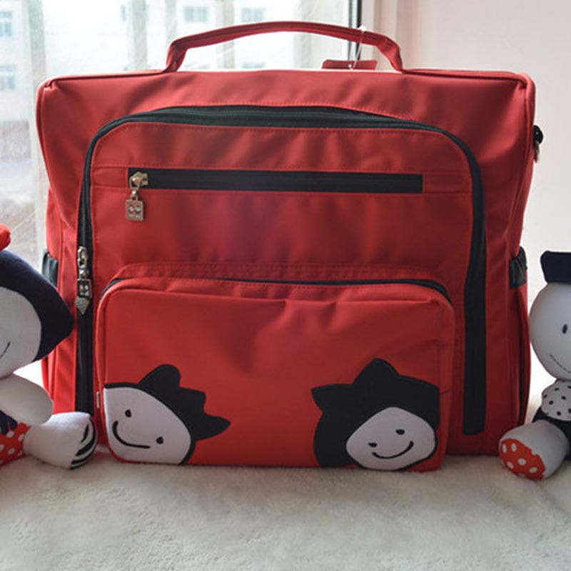 Free shipping Fashion Cute Cartoon Doll Mummy Bag Large Capacity Multi-functional Mother Bag Nappy Package Baby Diaper Bags burst fashion large capacity mummy bag multifunctional diapers bag manufacturers supply maternal formaldehyde free shipping