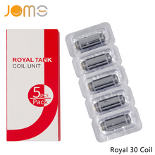 Jomotech 5 Pieces/Set 0.6ohm Evaporator Electronic Cigarette Atomizer Core Pen Mod Royal 30W Tank Replacement Coil Jomo-C11