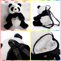 Free Shipping Cute Panda Plush Backpacks Stuffed Animals Toys Kung Kids School Kindergarden Bag Great Companion