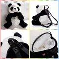 Frete grátis Panda Bonito mochilas De Pelúcia bichos de pelúcia brinquedos de presente de aniversário saco da escola dos miúdos do jardim de infância Grande Companheiro de Kung fu