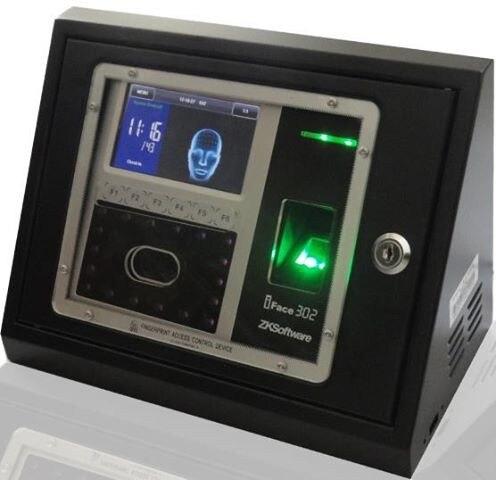 IFace302 iface 302 cara y control de acceso de asistencia de huella digital con cubierta impermeable cubierta exterior protección de metal con llave
