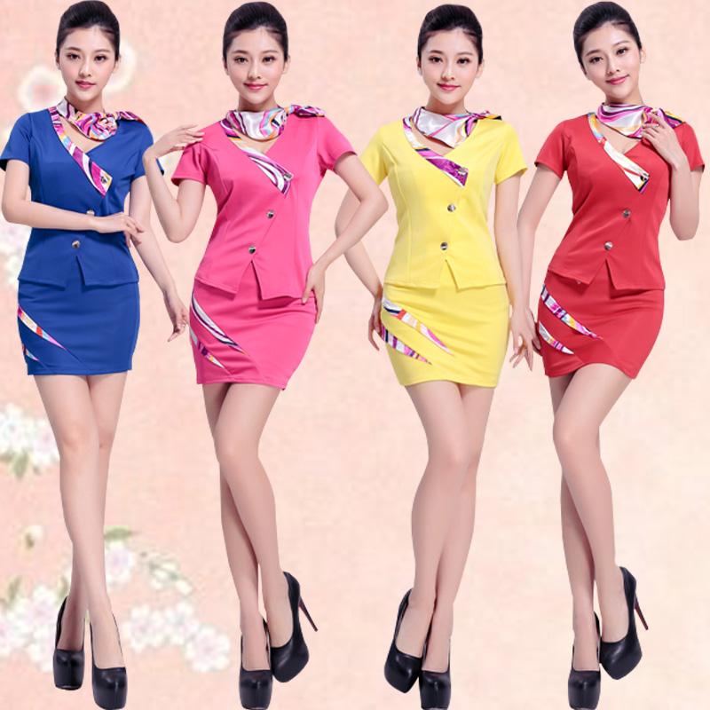 Sexy Occupation Work Suit Uniform Hotel Front Desk Set with