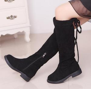 Image 3 - الركبة عالية الفتيات الأميرة الأحذية الخريف الشتاء الأطفال سميكة الحرارية الدافئة الأحذية حجم 26 36 أسود براون الأحمر الفتيات أحذية عالية