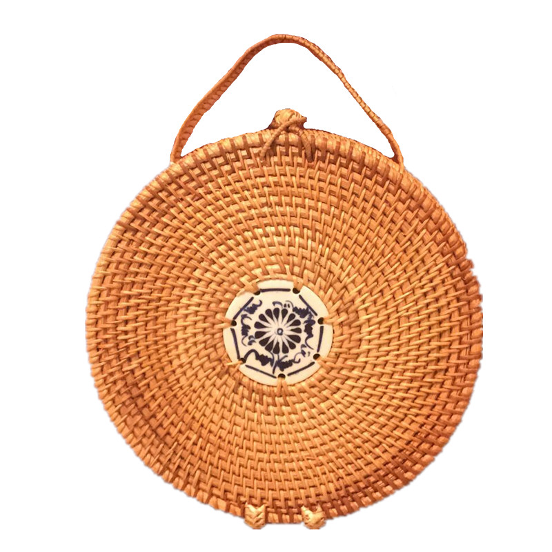 2017 women Mini Circle Straw Bags Handmade High Quality Beach Handbags for Women Summer Travel Rattan Tote Knitted Hand Bag handmade flower appliques straw woven bulk bags trendy summer styles beach travel tote bags women beatiful handbags