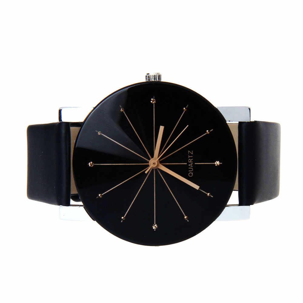 2016 נשים שעונים אנלוגי קוורץ חיוג שעה דיגיטלי שעון עור שעוני יד גדול עגול מקרה זמן שעון גברת מתנה Relogio Feminino