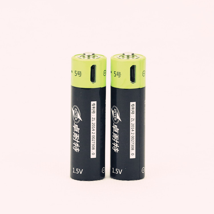 Saleaman NEW battery ! 2pcs 1.5V AA 1250MAH li-polymer lithium li-ion rechargeable battery with USB charging line For RC Parts