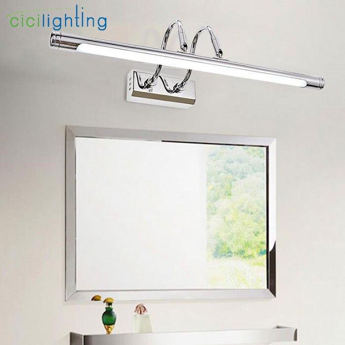 110 V 240 V 10 W 62 cm de largo 22 cm pared espejo de plata faro LED ... e82e4cb52c51