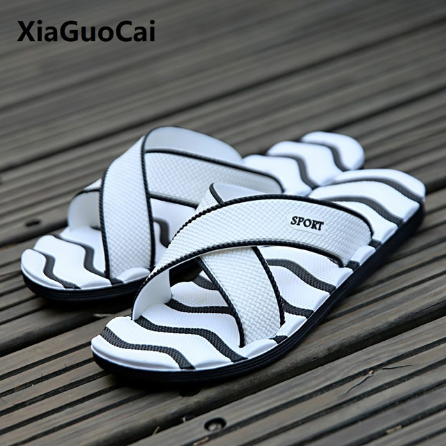 42068c4705c045 flip flops 2018 Summer Men Slippers mens shoes home EVA Outside beach  bathroom Soft sandals male