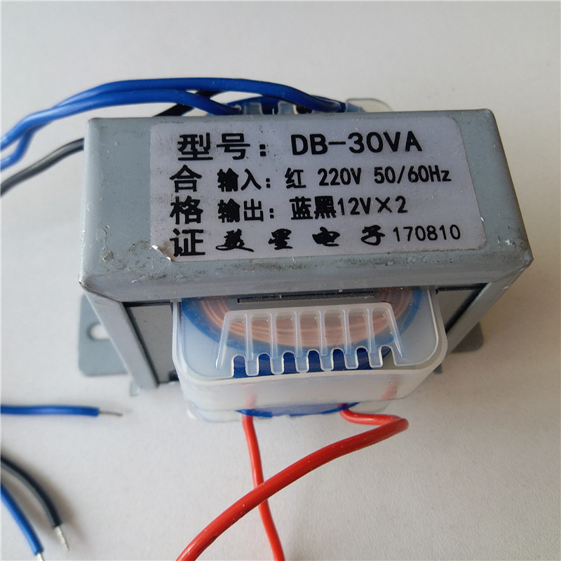 220VAC Power Transformer <font><b>30VA</b></font> EI66 output dual 9V 12V 15V 18V 24V Transformer for pre-amplifier board image