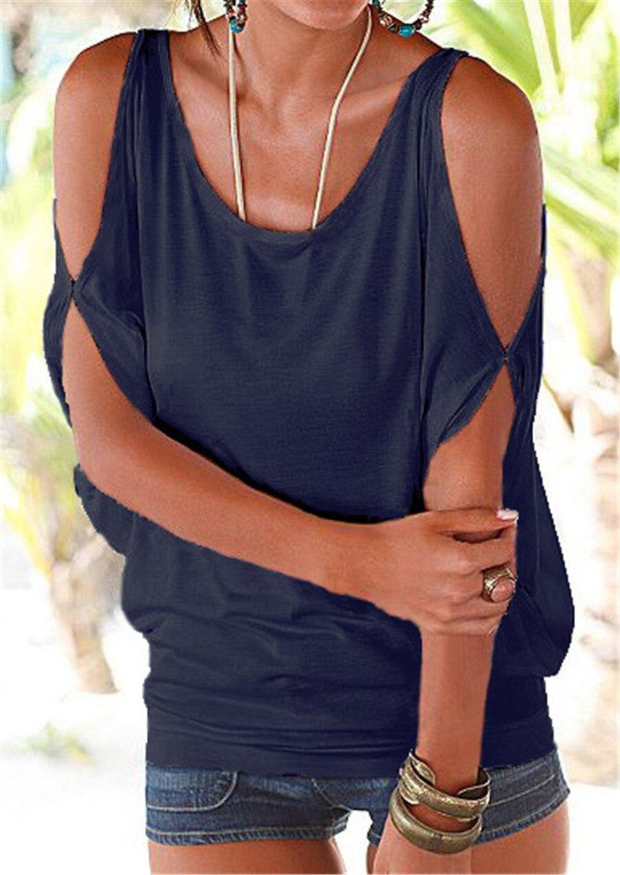 HTB1.b.fKVXXXXaYXFXXq6xXFXXX4 - T shirt O neck Short sleeve Off shoulder Sexy Loose Casual