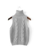 2016 Autumn Women Sleeveless High necked knit font b vest b font New Arrivals font b