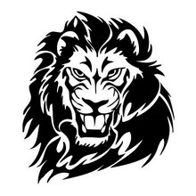 15.7*17.8CM Mighty Lion Wild Animal Car Sticker Hunter Vinyl Body Decal Decoration Black/