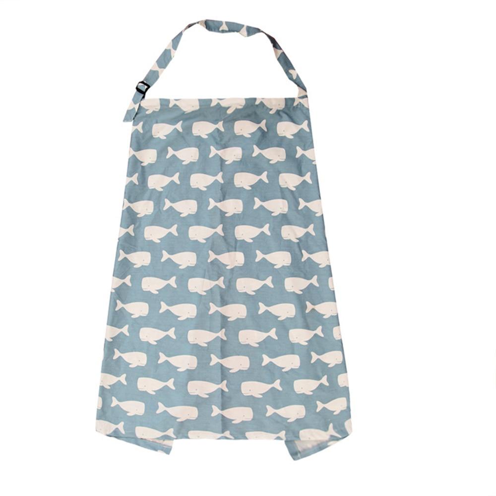 Детское одеяло, одеяло для мам и для грудного вскармливания, 4 стиля, хлопковое покрывало для кормящих мам, накидка для грудного кормления младенцев и детей - Цвет: little whale