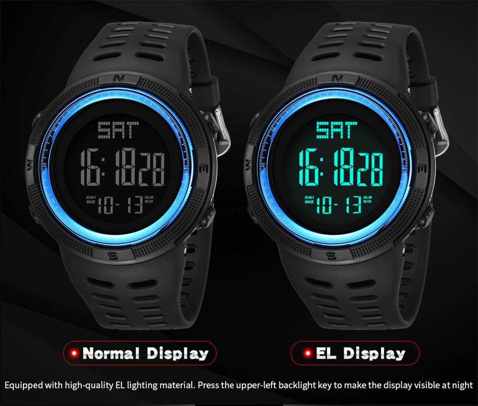 Sports Electronic Watches Men Countdown Double Time Watch Alarm Chrono Digital Wristwatches 50M Waterproof Outdoor Running Watch (5)