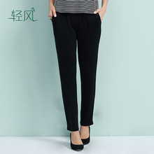 Spring And Summer Silk Trousers 100% Silk Heavy Twisted Double Knitted Silk Casual Pants Straight Jeans