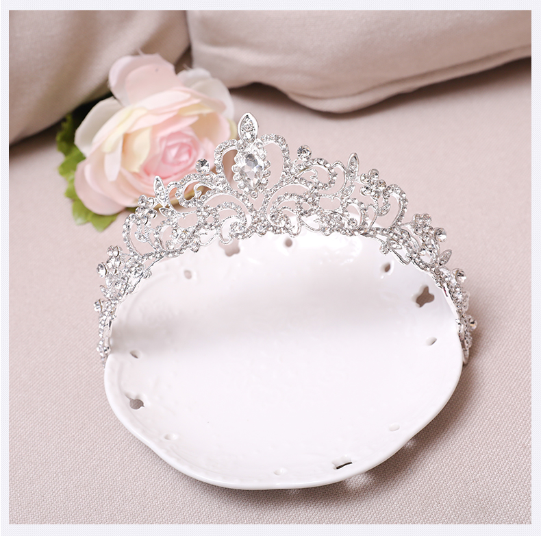 SHOSIXUAN Child crown princess lovely water drill girl hair ornament - Fashion Jewelry - Photo 5