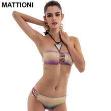 MATTIONI 2017 New Split Bikini Swimwear Swimsuit Hot Summer Bandage Bikini Beach Bathing Suit Low Waist Push Up Swimsuit