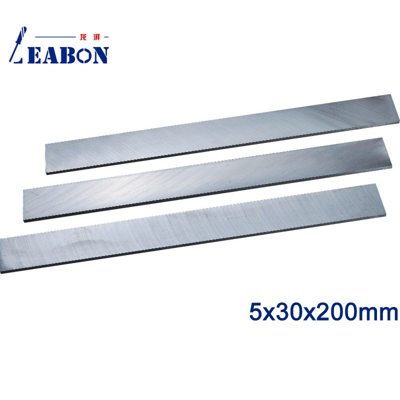 LEABON 5 X30x200mm W6% HSS Flat Wood Planer Blades Woodworking Power Tools Accessories  (A01010060)