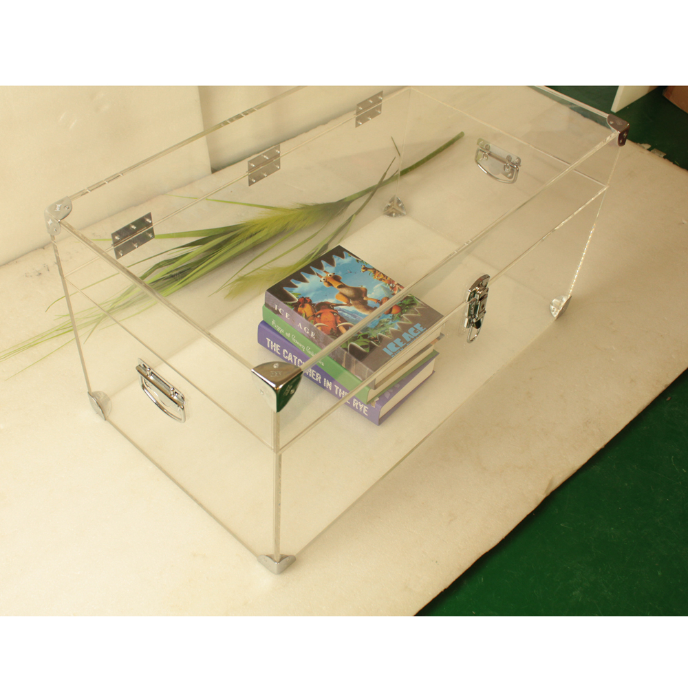 Custom Made Large Clear Acrylic Clothings /Books Chest ,Lucite Storage Trunk ...