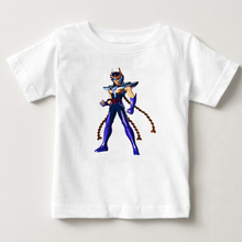 Stylish boy Saint Seiya Knights of the Zodiac T Shirt Pure Cotton Retro Tshirt kids summer Tshirt baby boys t shirt