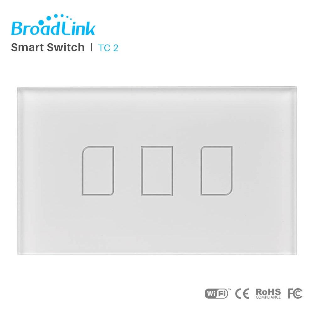 Broadlink TC2 US/AU Standard Wall light Switch Panel RF433MHz WiFi Wireless Remote Control Via RM Pro APP Control