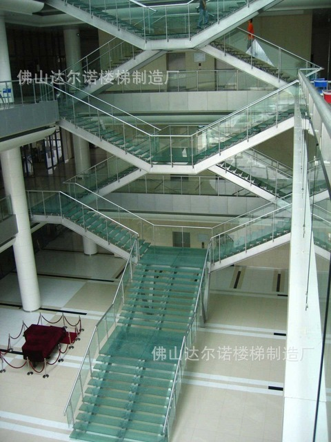 Villa Stair Railing / Wood Staircase / Spiral Staircase / Stair Glass / Stainless  Steel Rails