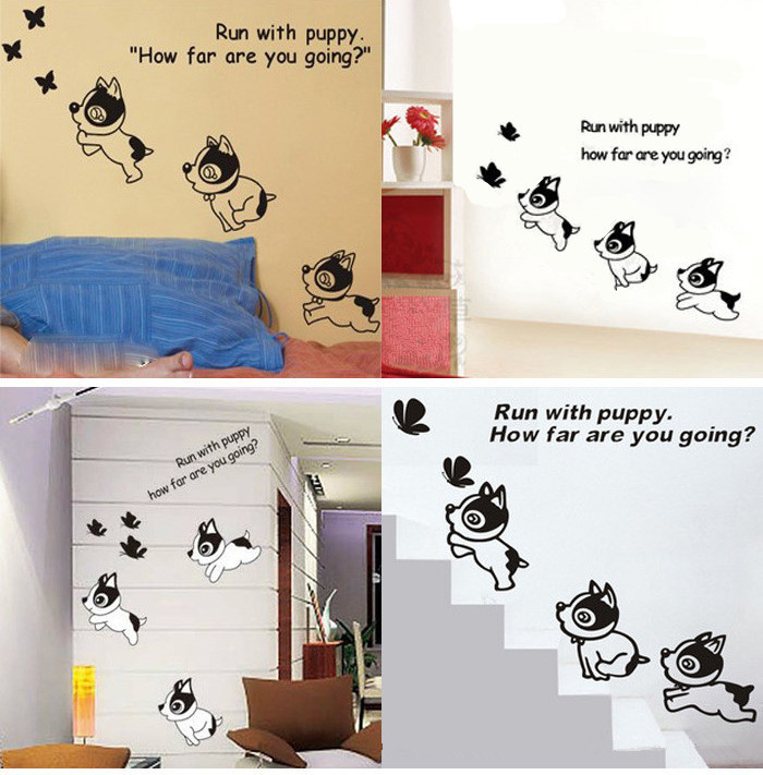 Dog Bathroom Decor Cute Erfly Dog Bedroom Home Decor Wall Stickers Princess Child