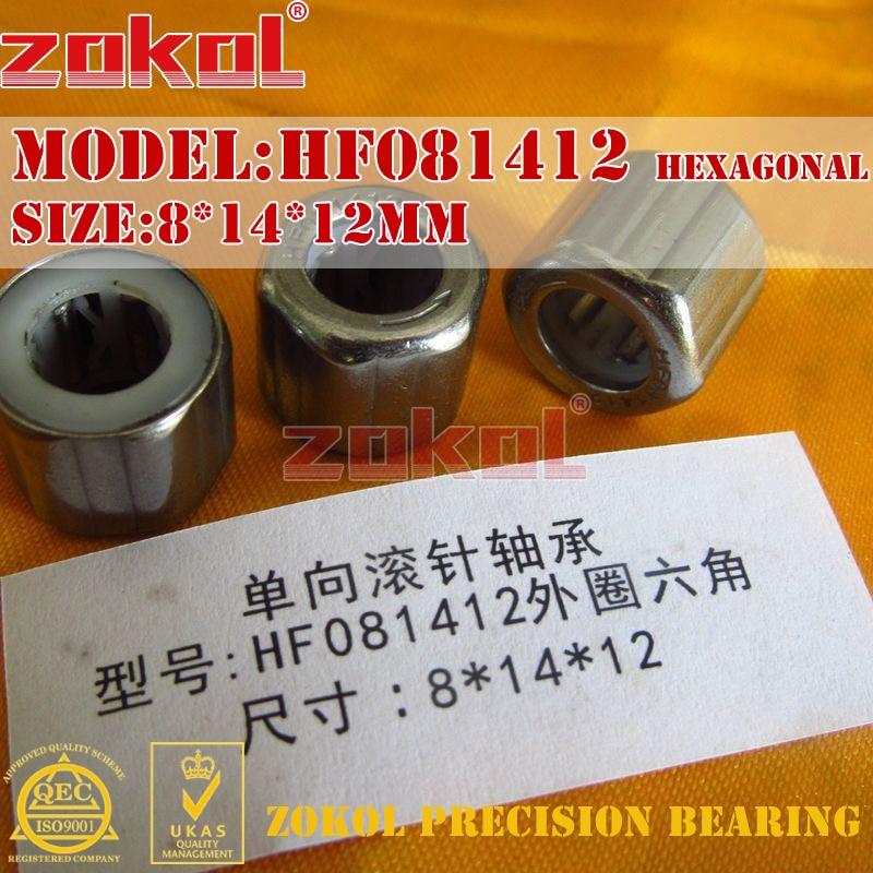 ZOKOL bearing HF081412 Outer hexagonal (EWC0812) One-way needle roller bearing 8*14*12mm  полиуретановая терка 140x230мм stayer 0812 14 23
