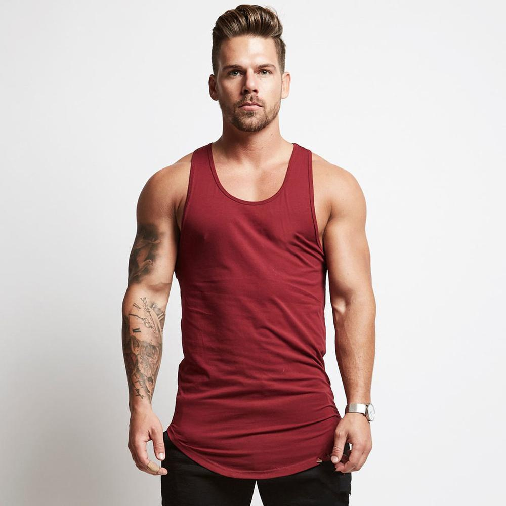New Arrival Gyms Stringer Clothing Bodybuilding Tank Tops Men Fitness Singlet Sleeveless Shirt Solid Cotton Muscle Vest Unders