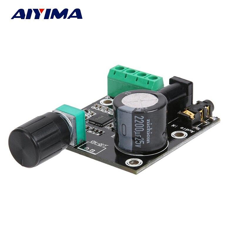 AIYIMA סופר דק 2x15 w PAM8610 Class D דיגיטלי אודיו מגבר לוח DC 12 v