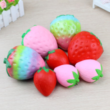 Funny Squishy Toys Cute Colorful Strawberry Food Elastic Soft PU Stress Relief Anti stress Novelty Squeeze Toy Kids Adult Gifts