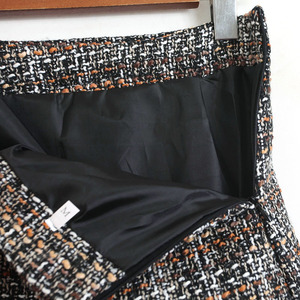 Image 5 - Colorfaith 2020 חדש סתיו חורף נשים צמר מיני חצאית בכלוב בציר משובץ ציצית סקטים גבוהה מותן גבירותיי חצאית SK5583