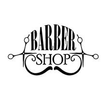 Wall Stickers for Barber Shop Hairdresser's Tile Glass Vinyl Wall Sticker Home Decor Barbershop Wall Decals House Decoration