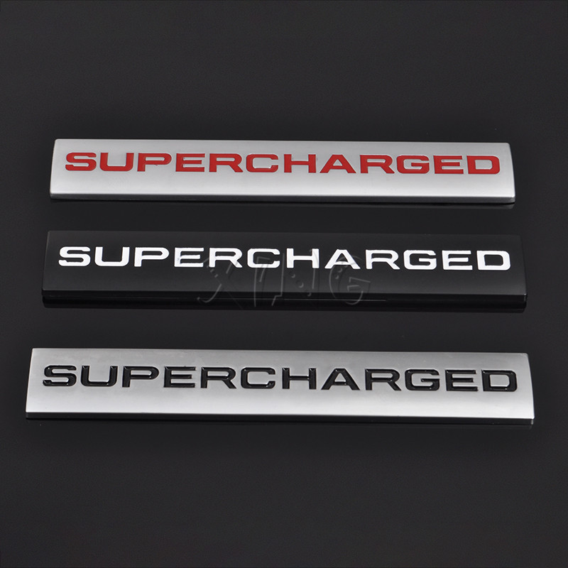 Car Sticker Emblem Auto Badge Decal For Supercharged Land
