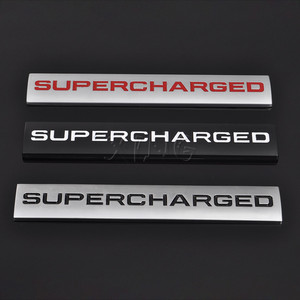 Car Sticker Emblem Auto Badge Decal For Supercharged Land Rover Range Rover Sport Audi A4 A5 A6 Q3 Q5 VW Car Styling Accessories(China)
