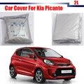 Cubierta del coche Para Kia Picanto Auto UV Anti Protector de la Cubierta de Polvo A Prueba de Lluvia Al Aire Libre, Sol, Nieve Resistente A Las Heladas