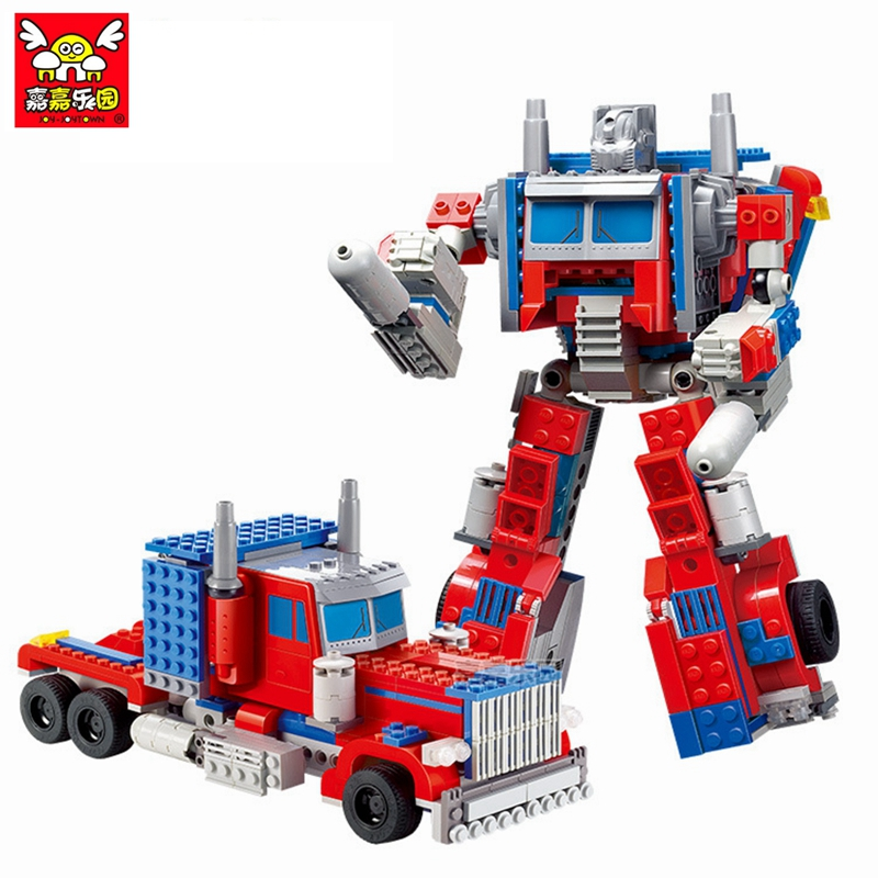 Anime Series Transformation Robot Car Models building blocks compatible with legoINGly blocks toys for Children Xmas Gift 387pcs new ideas plants vs zombies struck game building blocks set toys compatible with legoingly gift for children action