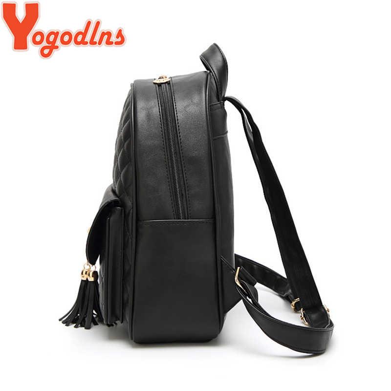 72975b2a77 ... Yogodlns 3Pcs Set Women Backpacks Female School Bags For Teenage Girls  PU Leather Casual Backpack ...