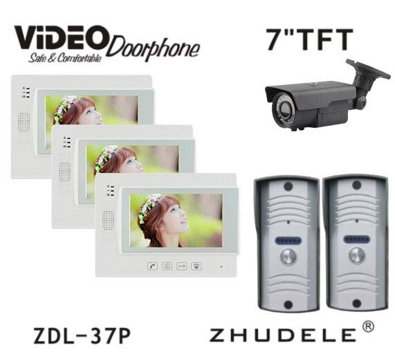ZHUDELE Reasonable Price 700TVL HD Peephole Camera 7 Display Wired Touch Key Video Door Phone Home Security Doorbell Intercom