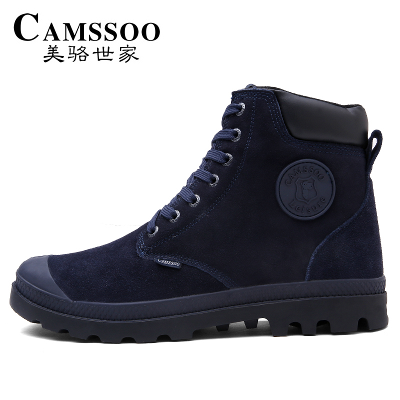 CAMSSOO Men's Winter Outdoor Trekking Hiking Boots Shoes For Men Warm Leather Climbing Mountain Boots Shoes Man Outventure yin qi shi man winter outdoor shoes hiking camping trip high top hiking boots cow leather durable female plush warm outdoor boot