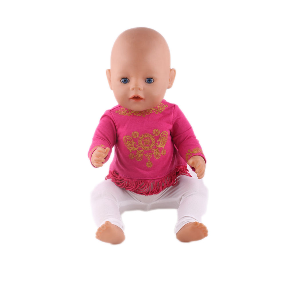 High Quality Clothes 43cm Baby Born Zapf Doll Clothes , Children best Birthday Gift Clothes With  n364 high quality 15 colors princess dress doll clothes for 43cm baby born zapf doll clothes and accessories best gift for children