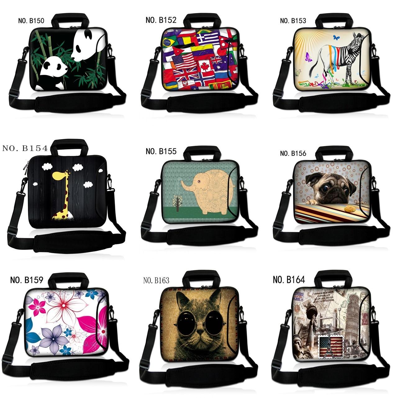 13 14 15 Inch Neoprene Soft Shockproof Laptop Notebook Tablet Bag Bags Case Messenger Shoulder Unisex for Men Women