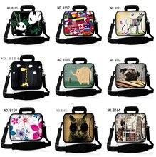 13 14 15 Inch Neoprene Tender Shockproof Laptop computer Pocket book Pill Bag Baggage Case Messenger Shoulder Unisex for Males Girls