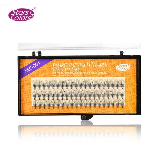 Alta calidad Faux seda pestañas 6mm-14mm 10d Mink Fake Pestañas postizas alta calidad cosmética extensión de pestañas