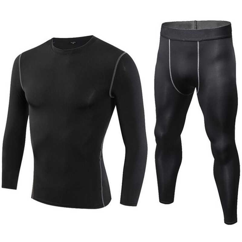 Мужское тактическое термобелье из флиса, быстросохнущее термо-нижнее белье, мужские дышащие эластичные кальсоны, топы, штаны, набор