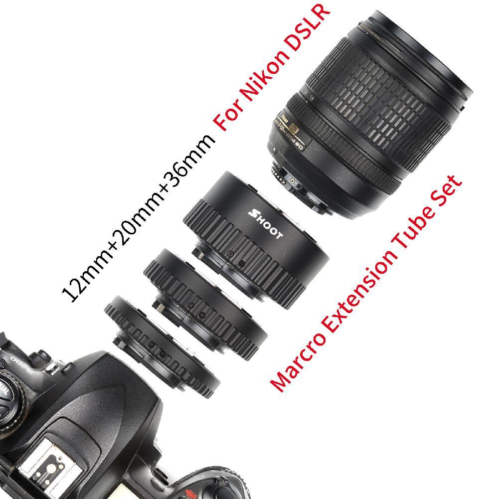 Yiwa 12mm 20mm 36mm mise au point manuelle N-AF Macro Extension Tube ensemble de montage pour Nikon D3200 D7100 D5100 D5500 D5200 appareil photo reflex numérique