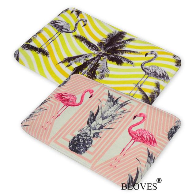 Flamingo Palm Tree Pineapple Flannel Floor Mat Nordic Design Bath Mat  Alfombras Bathroom Carpets Kitchen Rugs