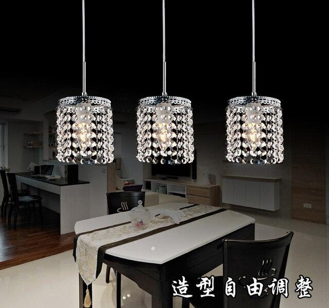 LED Lineaire Hanger Lampen kristallen verlichting moderne kristallen ...